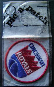 "Cincinnati Royals ABA Basketball Logo Patch 3"" Round in Bag"