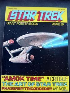1977 Star Trek Giant Poster Book Voyage Six 6 Enterprise Cover