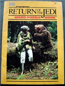 Star Wars Return of the Jedi Word Puzzle Book 1983 Happy House