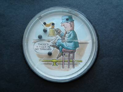 """Man Holding a Tankard  Dexterity Jiggle Puzzle Made in USA 3 3/4"""""""