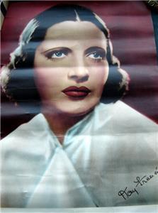 """1930s Actress Pin Up Poster Kay Francis Warner Brothers Star 9"""" x 13"""""""