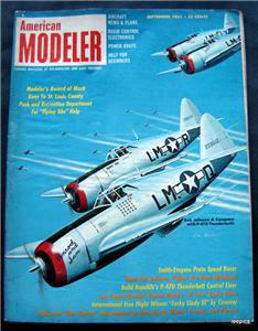 American Modeler Magazine September 1961 Planes Boats Cars Photos Plans