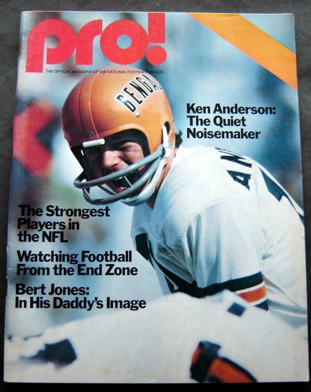 Pro Football Magazine Patriots Edition Sept 19 1976 Ken Anderson Bengals Cover