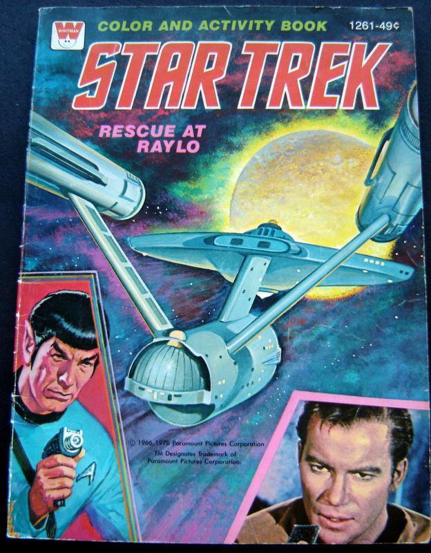 Star Trek Coloring and Activity Book Rescue at Raylo 1978 Whitman