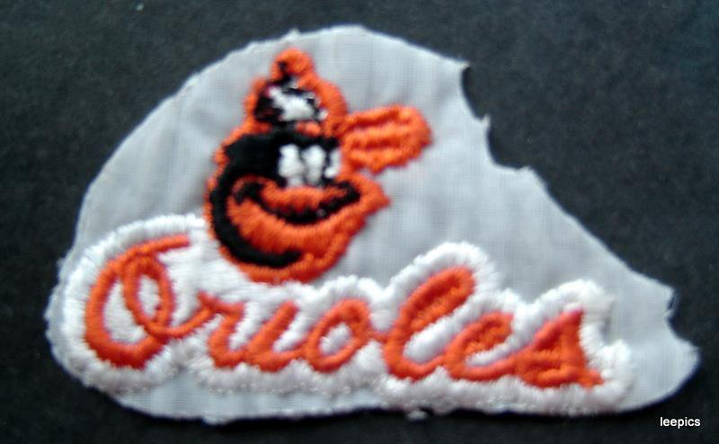 "Baltimore Orioles Baseball Cloth  Patch 2 3/4""  x 1 3/4"""