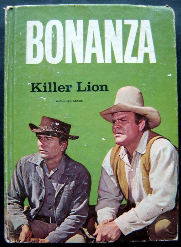 Bonanza Killer Lion Book Whitman 1966 TV Edition HC # 1568 Michael Landon