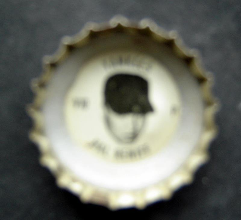 1960's Coke Bottle Cap Baseball MLB Hal Reniff New York Yankees