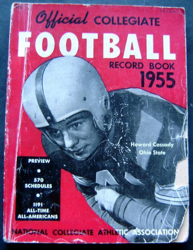 1955 Official Collegiate Football Record Book Ohio State Buckeyes Howard Cassady