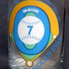 """Nolan Ryan Glass 7 No Hitters with Facsimilie Autograph 4 1/2"""" Tall"""