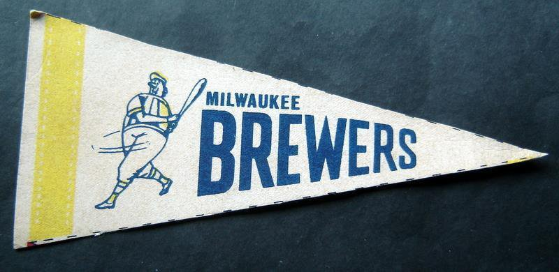 "Milwaukee Brewers Mini Baseball Pennant 9"" x 4"""