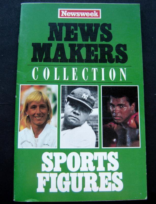 Newsweek News Makers Collection Booklet - SPORTS FIGURES Ruth Ali Namath Palmer