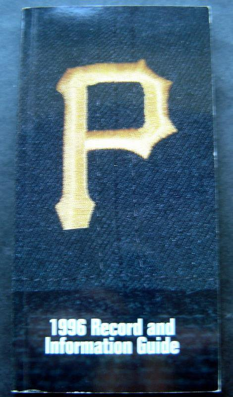 1996 Pittsburgh Pirates Baseball Book Record and Information Media Guide