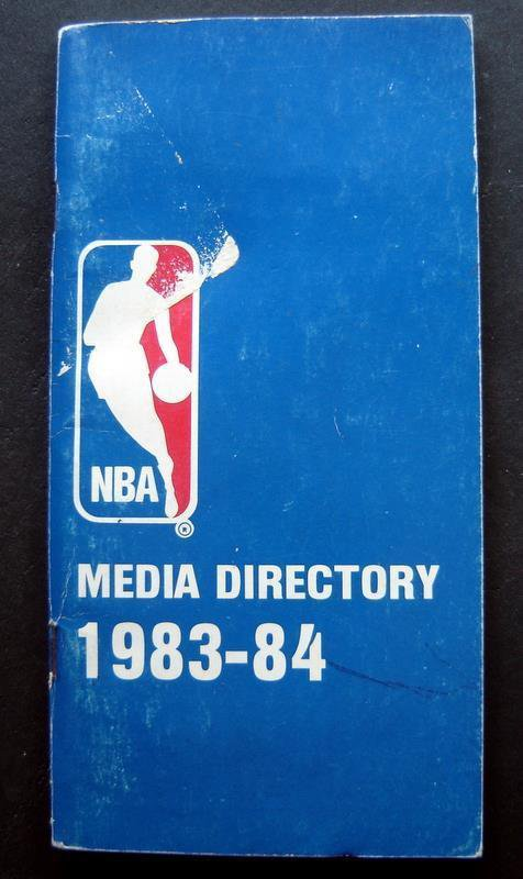 1983-84 NBA Basketball Media Guide Directory Booklet 84 Pages Soft Cover