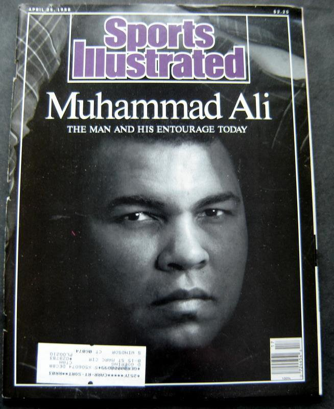 Muhammad Ali Cassius Clay Boxing Cover Sports Illustrated April 25, 1988
