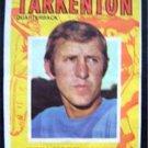 1971 Topps Football Pin Up Poster Insert #5 Fran Tarkenton New York Giants QB