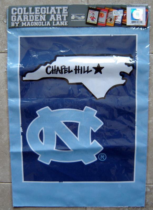 "University of North Carolina Collegiate Garden Art Cloth Banner  MIP Sealed 18"""