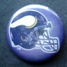 "Minnestoa Vikings Football PIN 1 3/4"" Diameter Helmet Design"