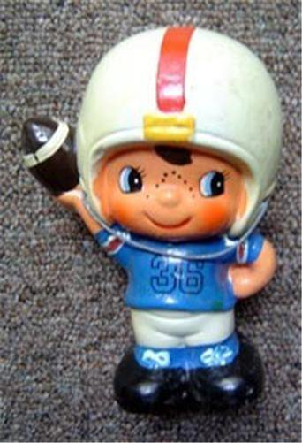 "Vintage Ceramic Football Player Bank 6"" Tall"
