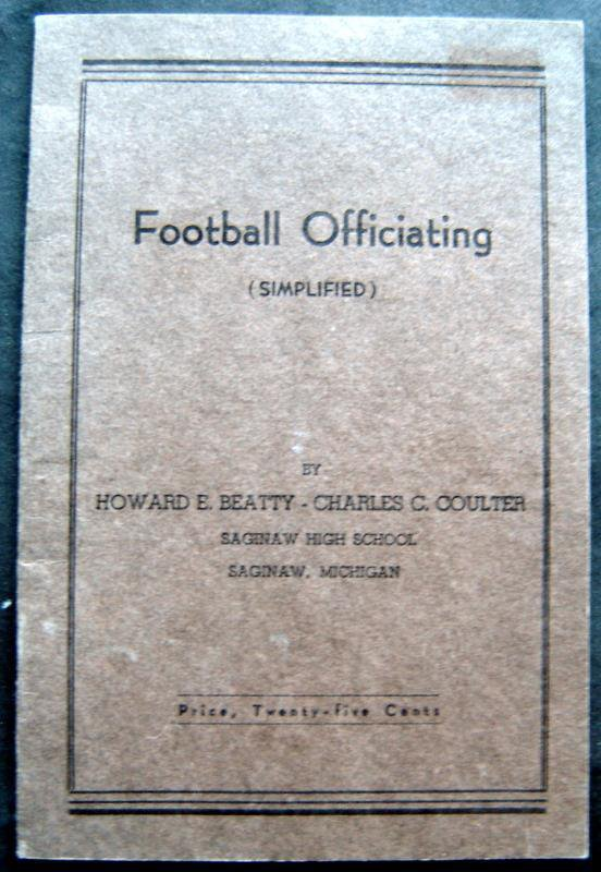 Football Officiating Booklet (Simplified) 1936 2nd Ed Saginaw High School Mich