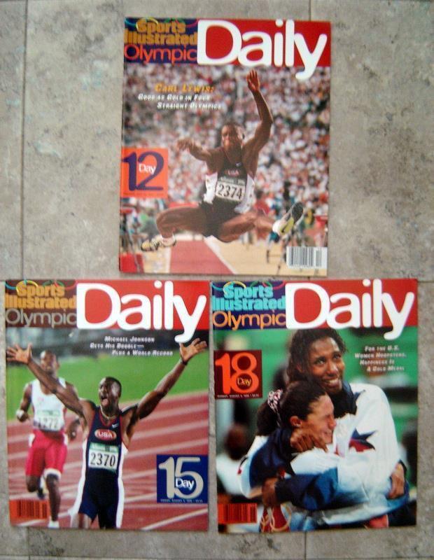 1996 Atlanta Olympics Daily SPORTS ILLUSTRATED  Lot (3) Days  # 12 / 15/ 18