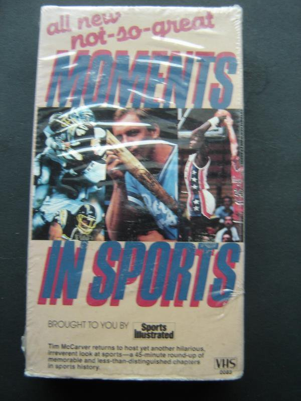 All New Not So Great Moments In Sports Video VHS Tim McCarver Sports Illustrated