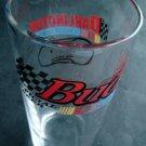 "NASCAR Racing Darlington Bud Budweiser Official Beer Clear Glass Tumbler 5 3/4"""