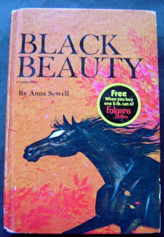 Black Beauty Book by Anna Sewell Whitman Classics 1970 #1604 Folgers Adv
