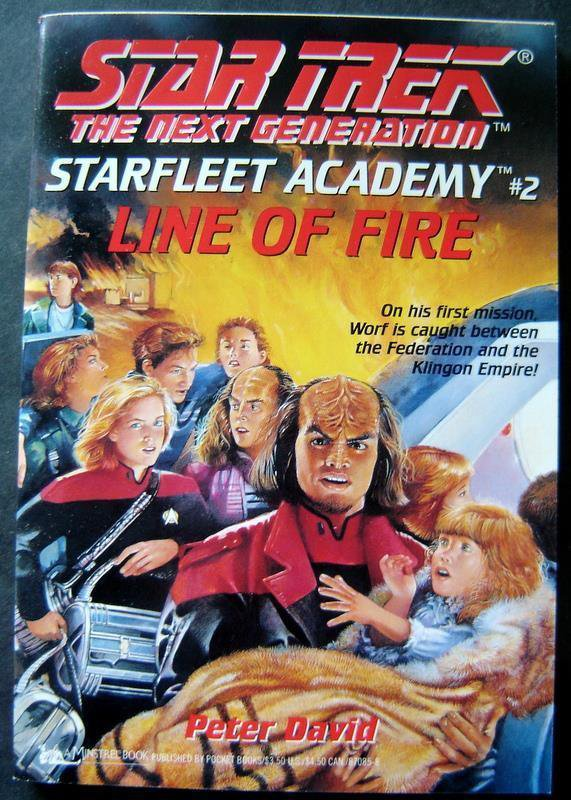 Star Trek Next Generation Star Fleet Academy #2 Line of Fire Book 1993