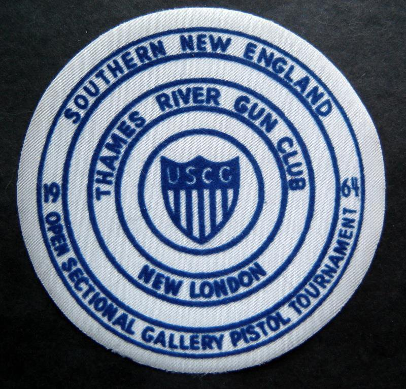 1964 Southern New England Pistol Tournament Thames River Ct Gun Club Patch