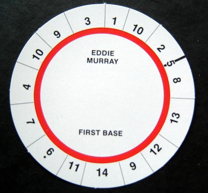 Cadaco All-Star Baseball Game Disk Eddie Murray 1st Base