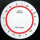 Cadaco All-Star Baseball Game Disk Eddie Murray 1st Base
