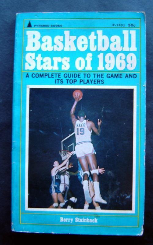 Basketballl Stars of 1969 Book Stainback Alcindor Barry Baylor Chamberlain West