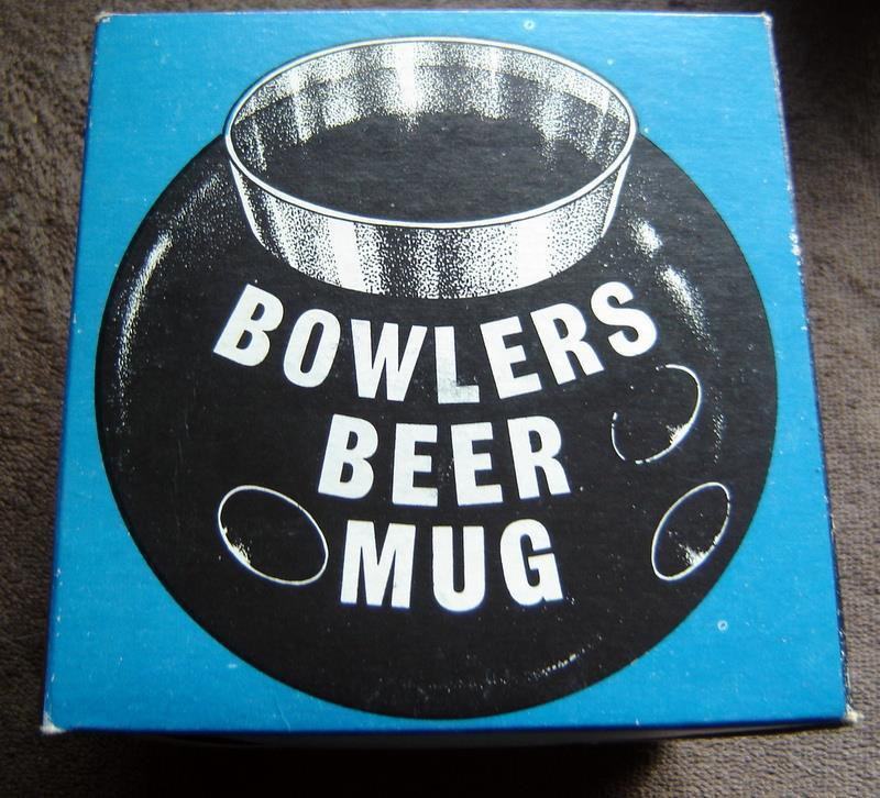 Vintage Novelty Bowlers Beer Mug 1968 in Original Box