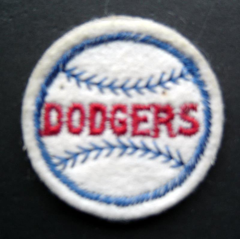 """Los Angeles Dodgers Baseball 2"""" Round White Patch"""