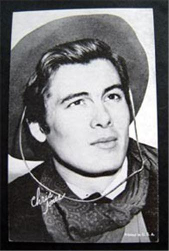 Arcade Exhibit Card 1960s Western Cowboy Chris James