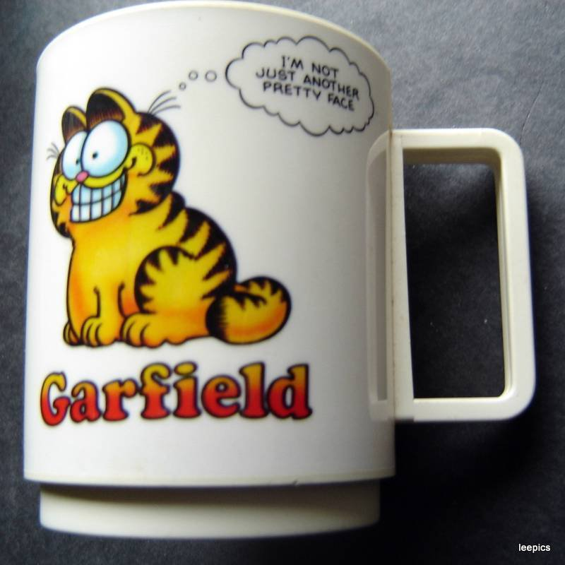 Garfield the Cat Plastic Cup Mug Im Not Just Another Pretty Face Food Is My Life