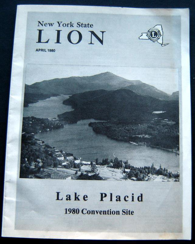 New York State Lions Club Convention Program Booklet Lake Placid April 1980