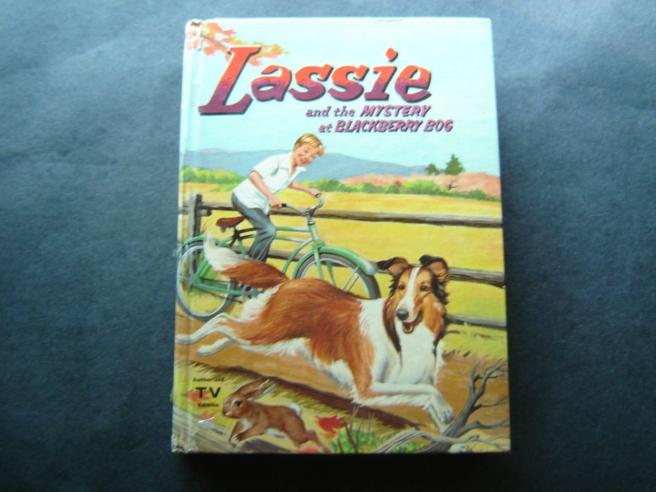 Lassie & the Mystery at Blackberry Bog Whitman 1956 TV Edition HC