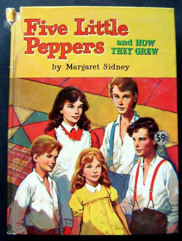 Five Little Peppers and How they Grew Book by M Sidney Whitman 1955 #1609