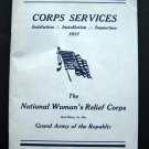 1937 Corps Services National Woman's Relief Corps GAR Booklet