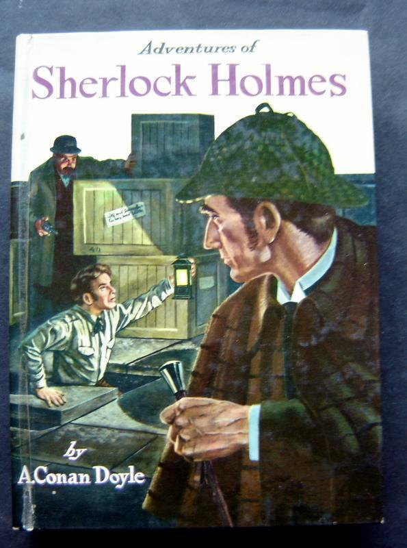 Adventures of Sherlock Holmes Book Whitman 1955 HC # 1624