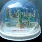 Liberty Island NY Statue of Liberty New York City Fan Snow Dome Water Globe
