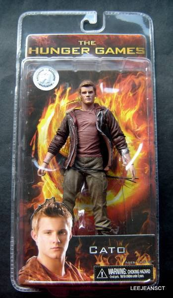 """Cato Doll Figure 7"""" Tall Hunger Games MIP Reel Toys 2012"""