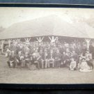 """Vintage Clothing Photo Large Group of People in Front Pavillion 8 1/4"""" x 5 1/4"""""""
