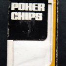 Vintage  Plastic Poker Chips 100 Interlocking in Original Box Red White and Blue