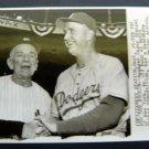 1955 Casey Stengel Yankees & Walt Alston Dodgers World Series AP Press Photo