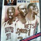 New Jersey Nets Vs  Cleveland Cavaliers Basketball Program Oct 17, 1986