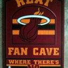 2012 Miami HEAT NBA Basketball FAN CAVE Wood SIGN Where There's No Offseason