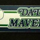 "Dallas MAVERICKS Basketball Bumper Sticker 11 1/4"" x 3"" Trench Mfg. 1989  USA"