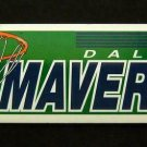 "Dallas MAVERICKS Basketball Bumper Sticker 11 1/2"" x 3"" Wincraft Made in USA"